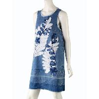 Ladys Applique & Embroidery Sleeveless Dress